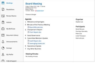 Azeus Convene board portal gallery